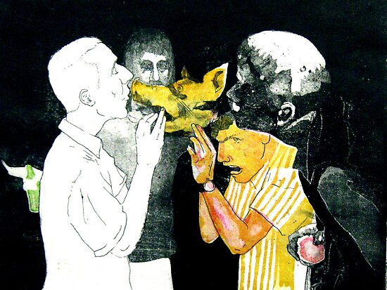 My Prom Night (aquatint) by Ognjen Stevanović