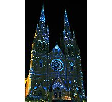 Starry Night at St Mary's Cathedral Photographic Print