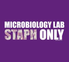 Microbiology Lab - Staph Only (White / Pink) by sciencemerch