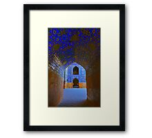 Corridors - Imam Mosque - Esfahan - Iran Framed Print