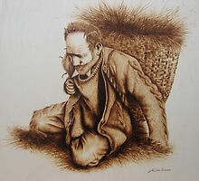 Hombre del cuevano by José Luis  San Román González