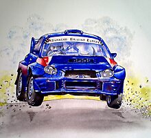 Subaru in full flight. by Anne D'Alton