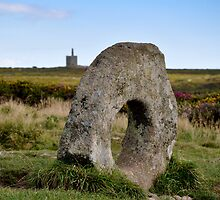 Men-an-Tol Bronze Age standing stones by Christine Hosey