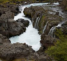 Waterfall on the drive from Reykjavik to Stykkishólmur by hinomaru