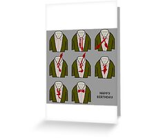 How to doctor who bow tie birthday card Greeting Card