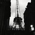Tour Eiffel - from a dark alley by Georgina Morrison