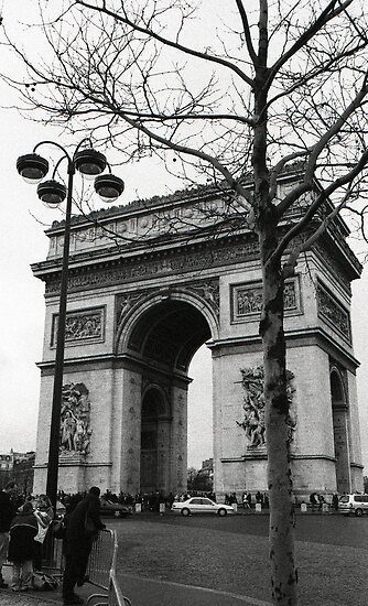 Arc de Triomphe - a winter stroll by Georgina Morrison
