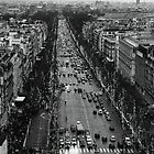 Champs Elysées - winter traffic by Georgina Morrison