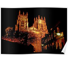 York Minster by Light Poster