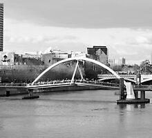 South Bank Foot Bridge Yarra River Melbourne by mackasenior
