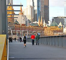 Yarra River Pedestrians by mackasenior