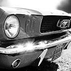 Ford Mustang - black & white by Adam North