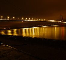 Humber Bridge - Night Time Lights by Emma Smith