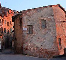 Sunset - Street in Montepulciano by kkmarais
