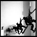 Bathroom Soldiers by Ognjen Stevanović