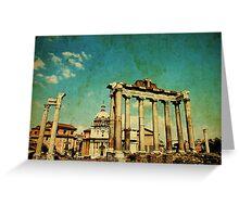 Temples of Saturn & Vespasian, Rome Greeting Card