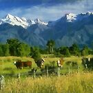 Cows in pasture by rok-e