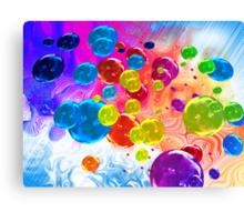 When Rainbows Melt Into Bubbles Canvas Print