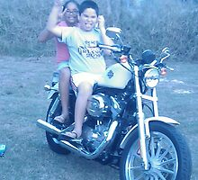 my kids having fun in the motocycle by mrsgramirez