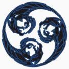 BlackBlue Tri-Dragon Mitsudomoe by Luis Perez