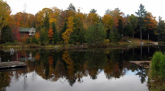 autumn reflection by Leeanne Middleton