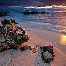 Last rays...Trigg Beach, Perth by mcintoshi