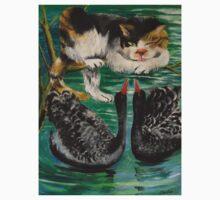 cat and black swan by zhenlian