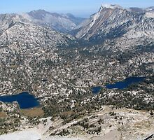 Eagle Cap Wilderness Lakes Mirrior & Moccasin  by Don Siebel
