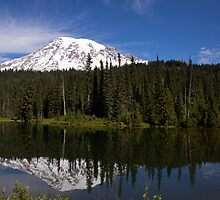 Mount Rainier at Reflection Lake by Barb White