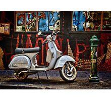 Back Street Vespa Photographic Print