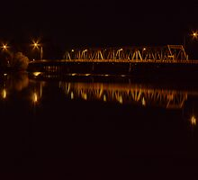 Yarrawonga Mulwala Bridge by Night by David Hunt