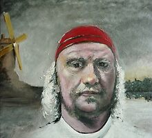 Man in a Red Bandana (Acrylic) by Paul Horton