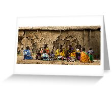 Manyatta, Masai Mara National Reserve, Kenya. 2009 Greeting Card