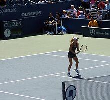 US Open - Wozniacki Warm Up by leystan