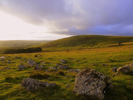 Dartmoor: Last Light Over Standon Hill by Rob Parsons