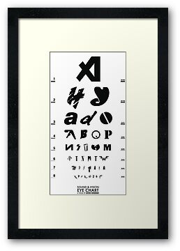 Sound & Vision Eye Chart White by SevenHundred