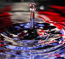 Patriotic Water Drop by Brian Dodd