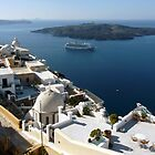 Caldera at Santorini Greece by Lucinda Walter