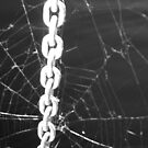 """Bondage"" aka ""Chain of Custody"" aka ""The Chains That Bind You"" - Black & White by Deb  Badt-Covell"