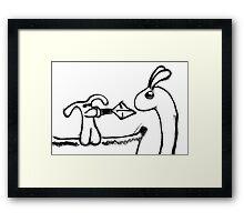 dragonslayer bunny Framed Print