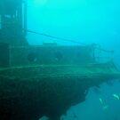 A shipwreck off Aruba by Kent Burton