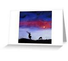 Stag In Moonlight Greeting Card