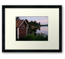 Shack by the Lake Framed Print