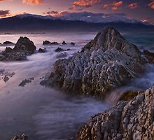 Kaikoura dusk by Paul Mercer