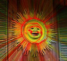 Old Sol Circular Splash by Debbie Robbins