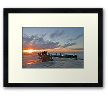 Sunrise at the Dicky Framed Print