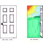 Sketchbook Project: Doors by jasonyerface