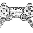 Sketchbook Project: Lazy Gamer by jasonyerface