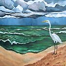 """""""The Storm and the Egret. (Point-of-Rocks: Siesta Key, Florida.)"""" by amyglasscockart"""