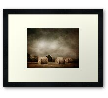 hay rolls on a sunday afternoon Framed Print